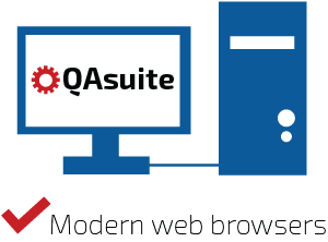 QAsuite system Requirements Modern web browsers